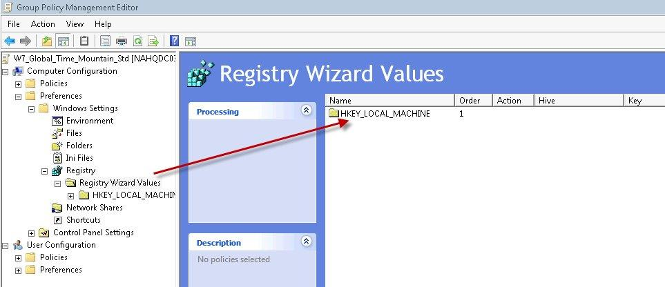 push registry key gpo